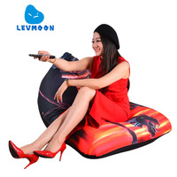 LEVMOON Beanbag Sofa Chair Shell Dragon Seat Zac Comfort Bean Bag Bed Cover Without Filler Cotton