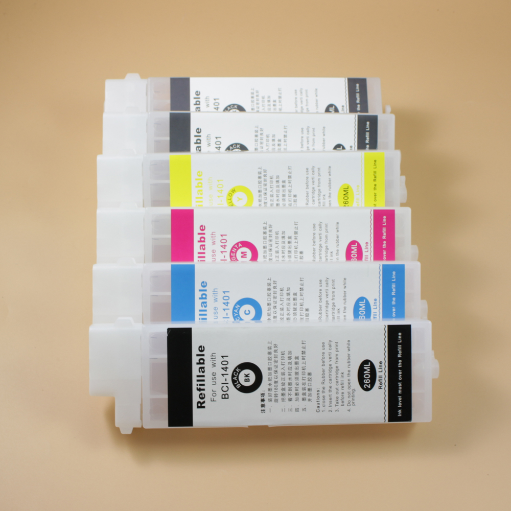 Image 2 - 260ml PFI107 Empty Refillable Ink Cartridge for Canon IPF670  IPF680 IPF685 IPF770 IPF780 IPF785 Printer without chipchip  cartridgeprinter chipcanon cartridge chip