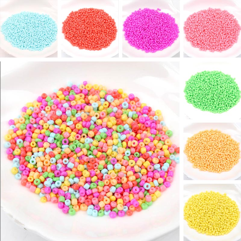 Neon Crystal Glass Spacer beads Czech Seed Beads For jewelry handmade DIY Free shipping 2mm 1000pcs 3mm 500pcs(China)