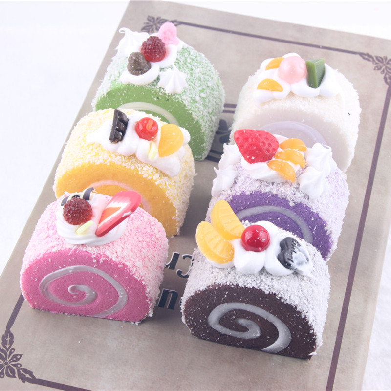 Under $2 5CM Coconut Simulation Cake Roll Baby Toys Kids Adults Slime Squeeze Plaything Squishy Slow Rising Cute Toys