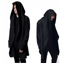 Best Quality Men's Hooded With Black Gown Mantle Men Hoodies and Sweatshirts long Sleeves Cloak Cardigans Outwear