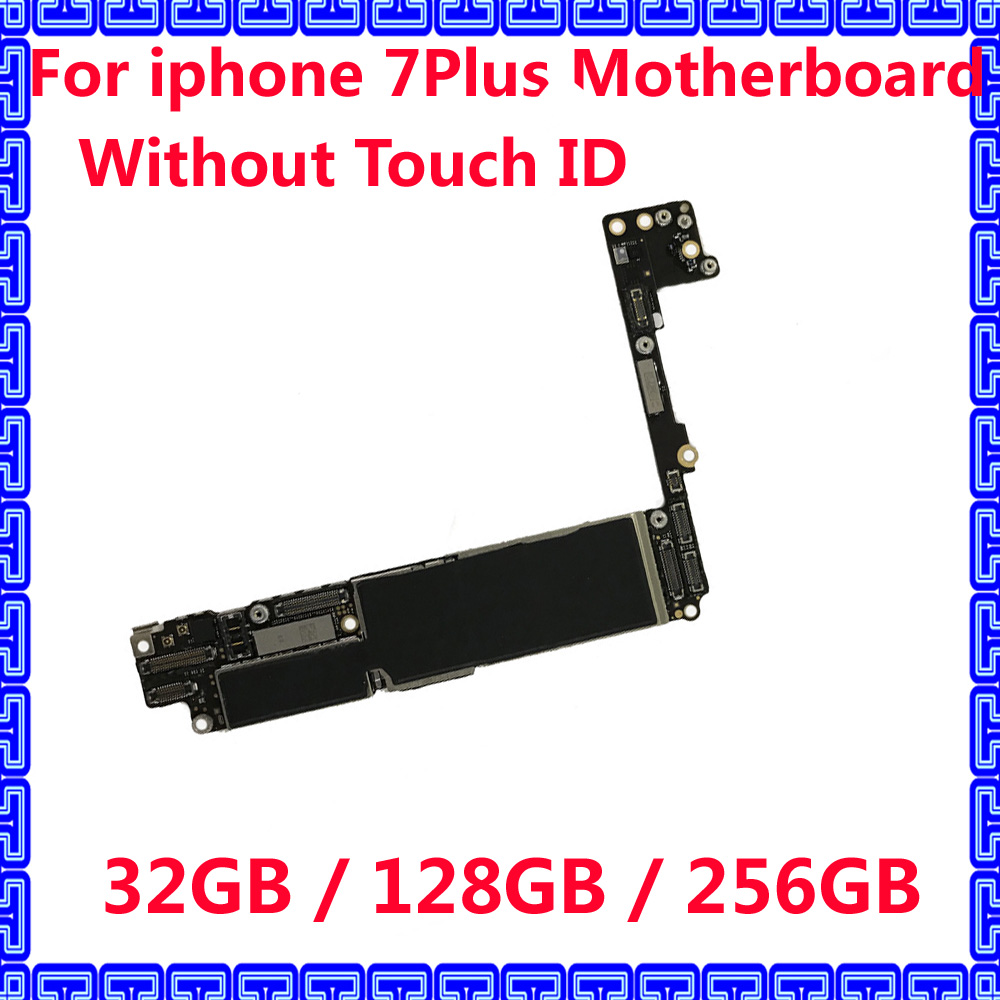 US $75 0 |32GB / 128GB / 256GB Original motherboard for iphone 7 Plus 7Plus  Unlocked iCloud IOS system Circuits mainboard without touch ID-in Mobile