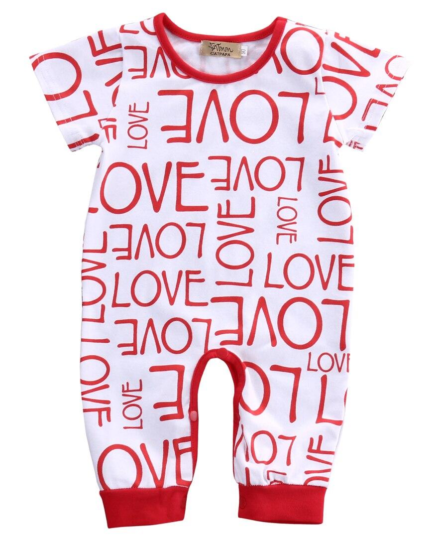 Newborn Baby Clothes Short Sleeve Girl Boy Leggings Romper letter print Design Cotton Jumpsuit bebe costumes