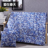 Fashionable Blue Small Prints Patterns Square Soft Bolster Blanket Two Uses Cushion Good Quality Pillow Summer