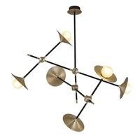 Бесплатная доставка Винтаж Люстра светодиодный теплый белый светодиодный лампы в комплекте бронзы meteal Люстры для фойе номер лестницы ламп