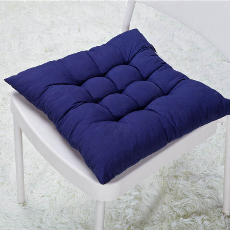 40*40CM Winter Home Office Decor Seat Cushion Solid Color Comfortable Bar Chair Sofa Pillow Buttocks Chair Cushions FPing