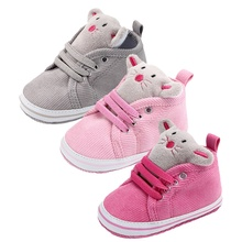 Classic Canvas Baby Shoes Cartoon Animals Cute Newborn Baby Girl Shoes