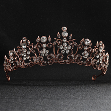 Trendy Luxury Crystal Wedding Crown and Tiaras Women Prom Bridal Queen Charm Hair Accessories for Ladies Bride Headdress