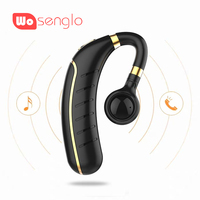 Business Bluetooth 5.0 Headset Driving Wireless in ear Earbud with 260mAh battery Ultra long Standby Time For ios Android Phone