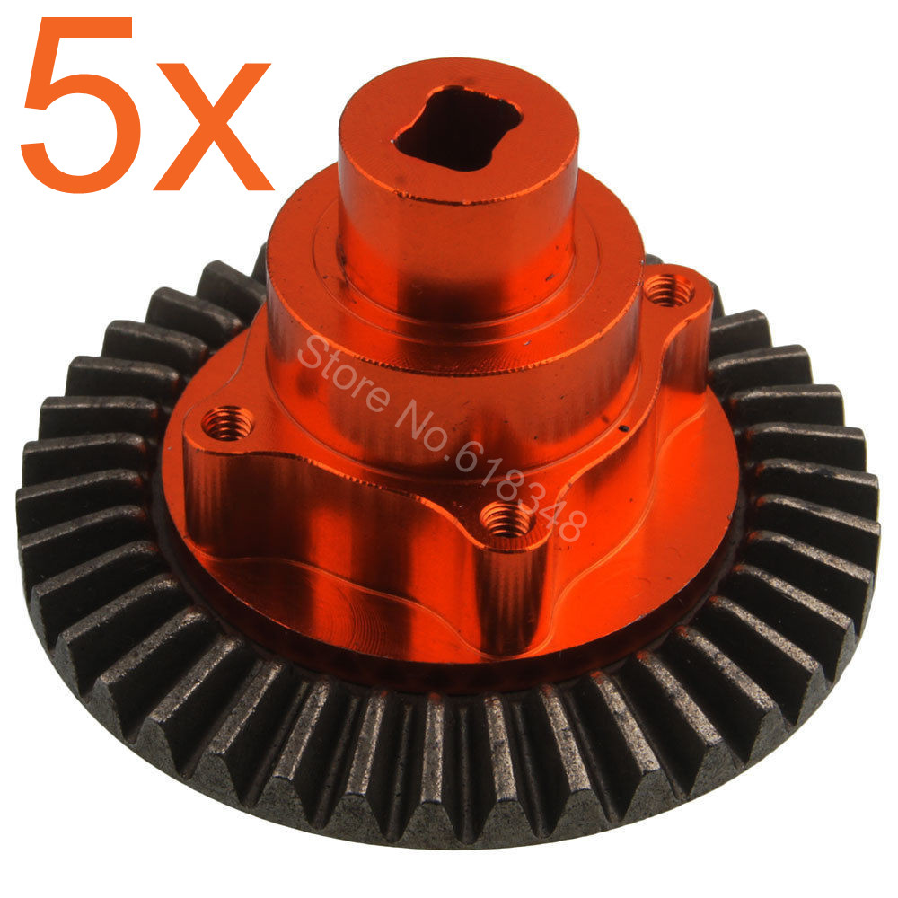 5Pcs For HSP Pangolin 94180 Metal Alum Alloy Connect Box w Gear 38T 180009 18009 1