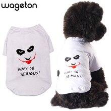 918fdfd6dfdc Pagliaccio Camicia Cane Wageton Stampa di Modo di Estate Pet Abbigliamento  Chihuahua Yorkshire Terrier Vestiti T Camicette per C..