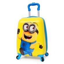 Дорожные сумки на колесиках Детский мультфильм 2018 Дорожная сумка на колесах чемодан для детей чемодан на колесиках школьная сумка