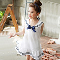 2017 Summer Style Children's Clothes For Girls Preppy Striped Baby Girl Clothing Next Costume For Kids Mini Bow Dresses