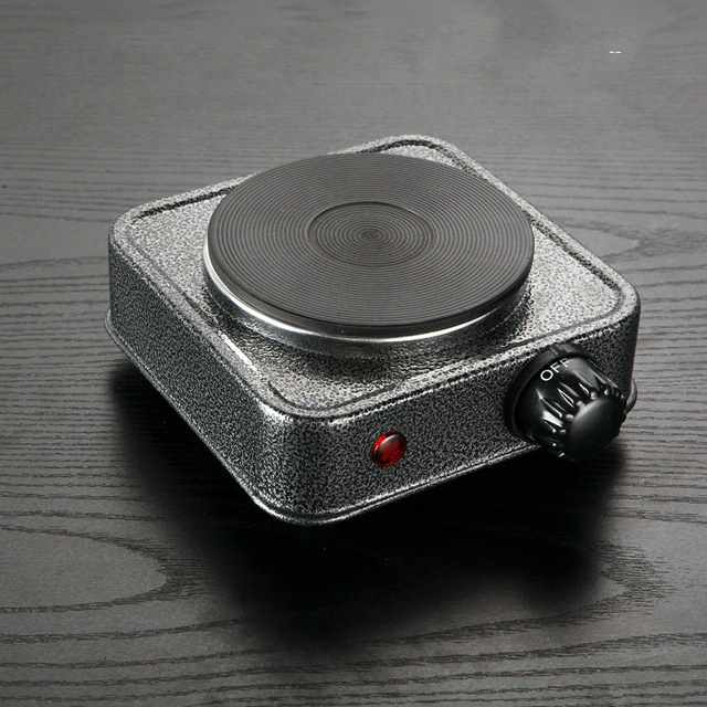 Mini Electric Stove Cooking Hot Plate Small Household Furnace Thermostat Milk Cooker Travel 500w