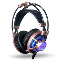 Newest ZG500 headset Surround Sound Over-ear Pro Emitting Shock LED Bass Gaming Headset with Microphone for PC gamer headphone