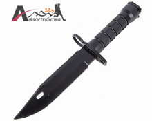 Decorative US Army M9 Soft Plastic Knife for Airsoftsports Tactical Wargame Outdoor Hunting Cosplay Training Knife Model BK