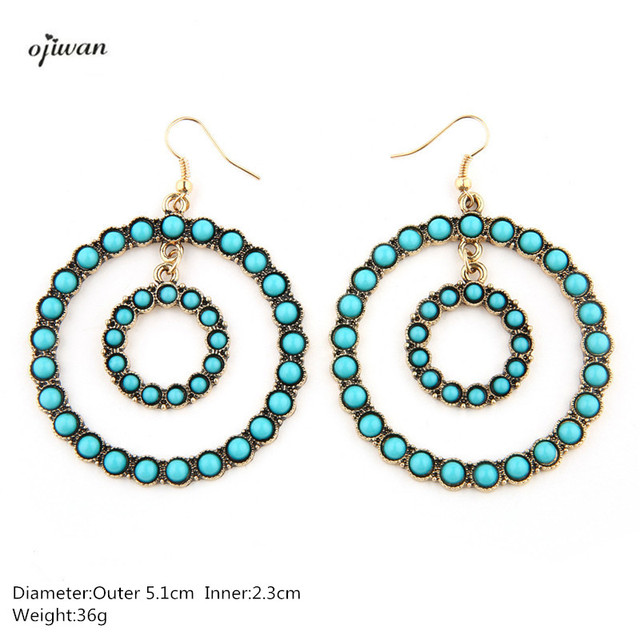 Turquoise Tribal Earrings