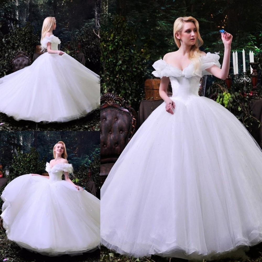 Cinderella Wedding Dresses 2017 : Aliexpress buy custom for women new movie deluxe