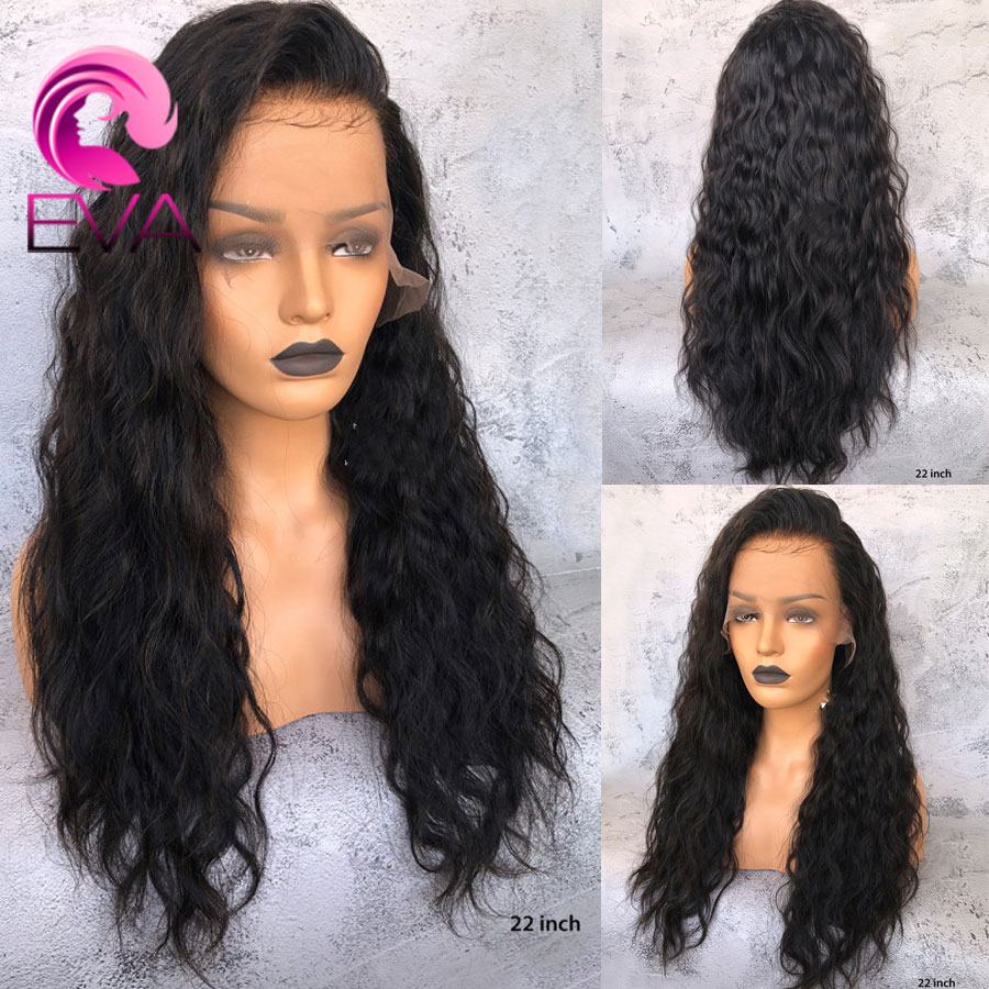 EVA 13x6 Lace Front Human Hair Wigs With Baby Hair Pre Plucked Lace Front Wig For Black Women Bleached Knots Brazilian Remy Hair