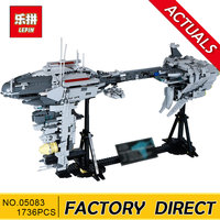 Lepin 05083 Star Series War 1736Pcs MOC The Nebulon Model B Set Medical Frigate Children Building