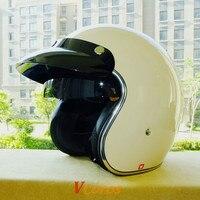 THH Brand VH351 Black sunny lens Vespa moto helmet personalized scooter retro 3/4 open face women men vintage motorcycle helmet