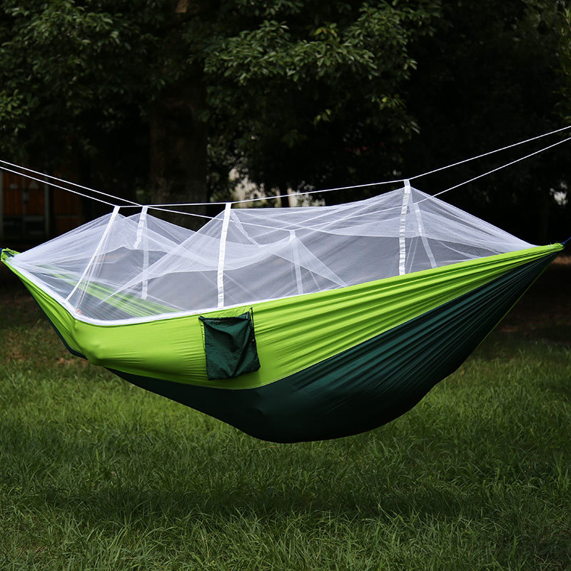 ФОТО Super Light Outdoor Hammock with Anti Mosquito Net for Indoor, Camping, Hiking, Backpacking