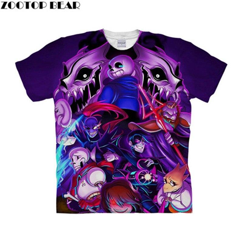 Undertale Fighting 3D t shirt Travel Summer tshirts Men t-shirt Top Tees Funny Short Sleeve Shirt Streetwear Dropship ZOOTOPBEAR