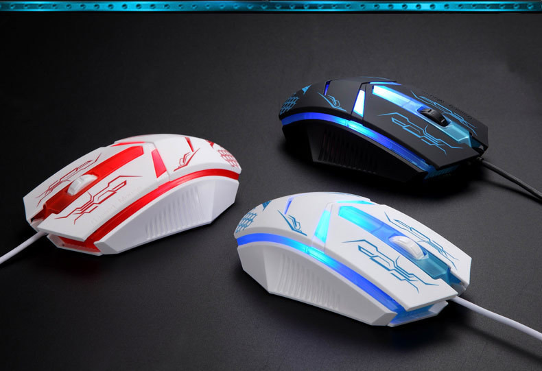 2015 new Silent Gaming Mouse Cool Design Professional Iron ...