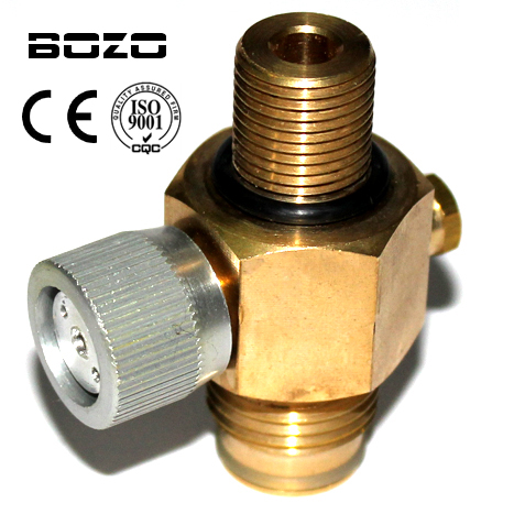 "Cylinder air Tank 1/4 Turn CO2 Tank On / Off ventil Copper made paintball airsoft 5/8 ""-18UNF nebo M18 * 1.5 s ochranou"
