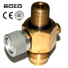 """Cylinder air Tank 1/4 Turn CO2 Tank On/Off Valve Copper made paintball airsoft 5/8""""-18UNF or M18*1.5 with protector"""