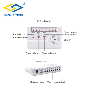 Image 2 - Water Leakage Warning Alarm System with 4pcs Sensitive Water Sensor and  1pc Water Leak Alert Control Unit for Home Security