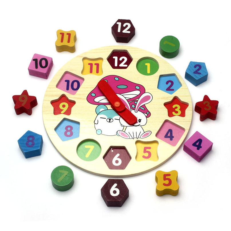 Mooistar2 #5018 доли рисунок Форма сортировщик 12 номер Пособия по математике деревянный блок часы игрушка в подарок W256 ...
