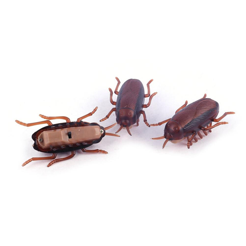 1PCS New Arrivals Funny Electronic Cockroach Toy With Battery For Kids Children Baby Novelty Gag Toys 2017 Wholesale