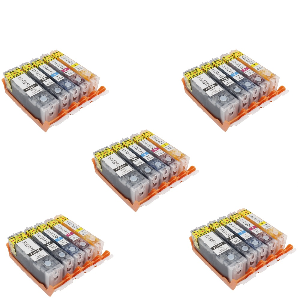 XIMO 5SETS 25 PACK REFILLABLE EDIBLE ink Cartridge PGI550 CLI551 For Canon MG5450 MG6350 IP7250 MX925