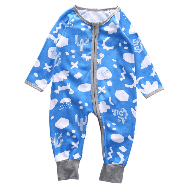 f8f03c209 Pudcoco Infant Baby Boy Sleeper Long Sleeve Zip Up Kids Boys Sleep ...