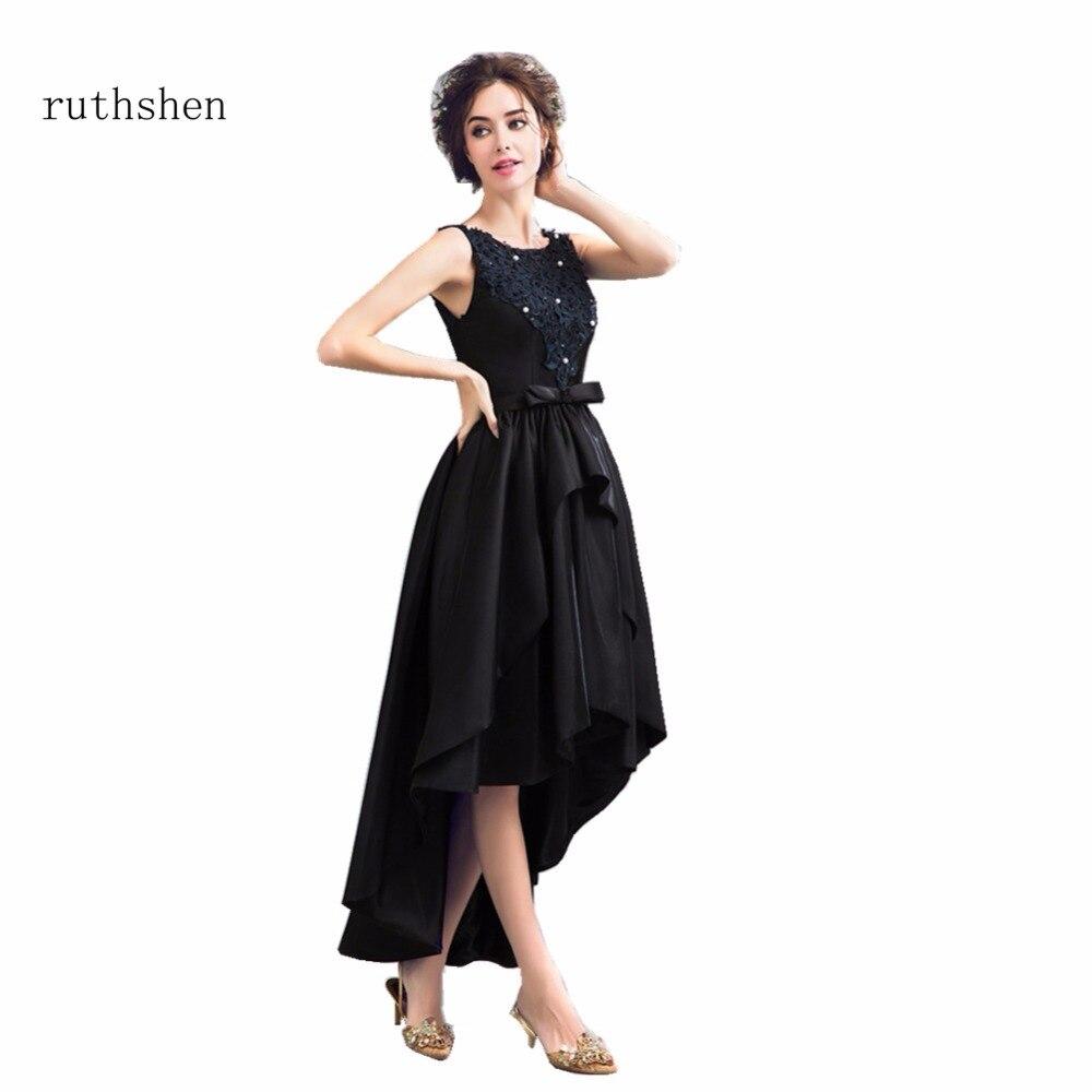Discount Designer Dresses Cocktail: Ruthshen Latest Design Prom Dresses Cheap 2018 High Low