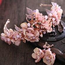La nueva Jing Wan corazón Barroco Europeo tocado de la novia corona de cristal corona nupcial de la boda adornos de joyería