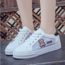 Summer new women's breathable flat shoes mesh casual student canvas