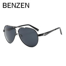 BENZEN Polarized Men Sunglasses Brand Design HD Pilot Male Sun Glasses UV 400 Driving Glasses Shades Black With Case 9189