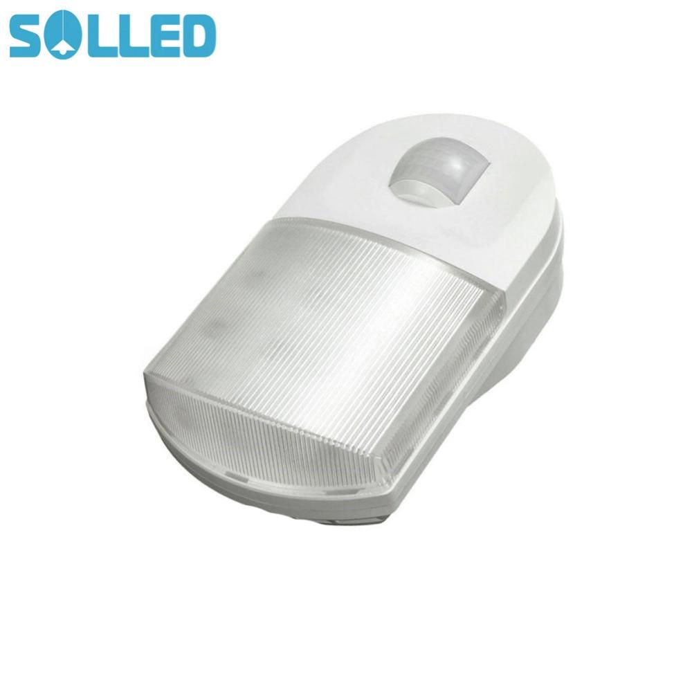 SOLLED Infrared Motion Sensor 9 LED Night Light Home Hallway Bedroom Wall Lamp with EU Plug TH цена и фото