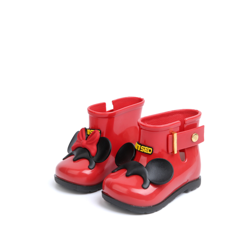 Bottes en caoutchouc imperméables pour enfants bottes pour filles en gelée souple pour bébé bottes de pluie pour bébé enfants avec nœud filles chaussures de pluie pour enfants