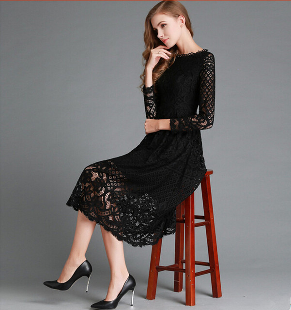 Lace Hollow Out Long Dress