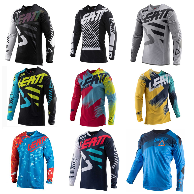 SPTGRVO 2019 LEATT motocross jersey downhill camiseta ropa mtb Long Sleeve Moto