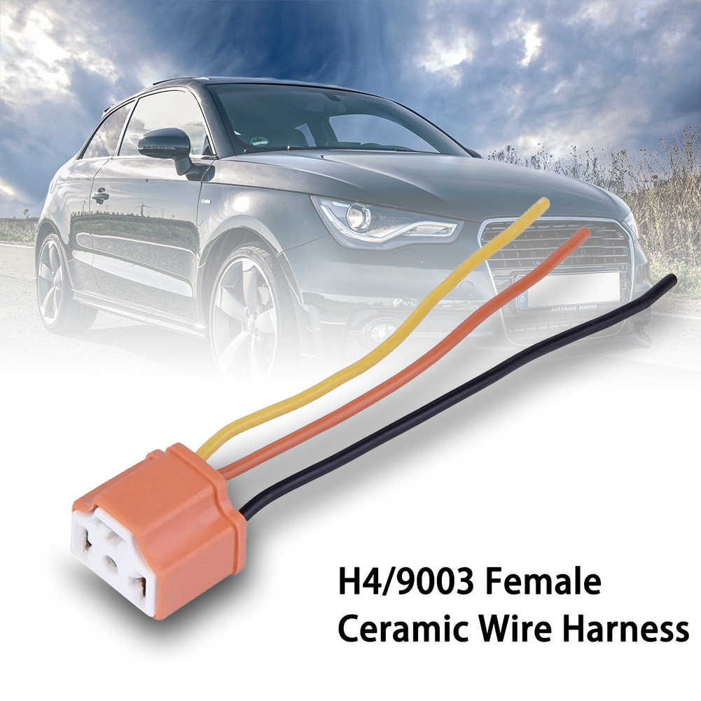 H4 LED car Headlight Ceramic Bulb Holder Extension Automotive Wire Halogen Adapter Socket Lamp Connector dropshipping