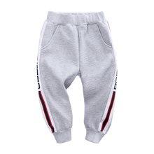 Boys Pants Long-Trousers Sports Winter Cotton Casual Children Velvet Stripe Thick Keep-Warm