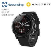 Nowy oryginalny Huami Amazfit Stratos inteligentny zegarek sportowy 2 5ATM wodoodporny ekran 1.34 '2.5d GPS Firstbeat pływanie Smartwatch