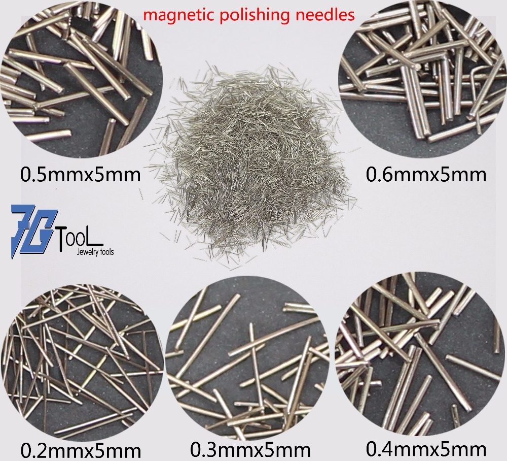 1000g Stainless Steel 304 Magnetic Polishing Needles/Pins For Magnetic Tumbler Polishers Dia 0.2/0.3/0.4/0.5/0.6/0.7/0.8MM