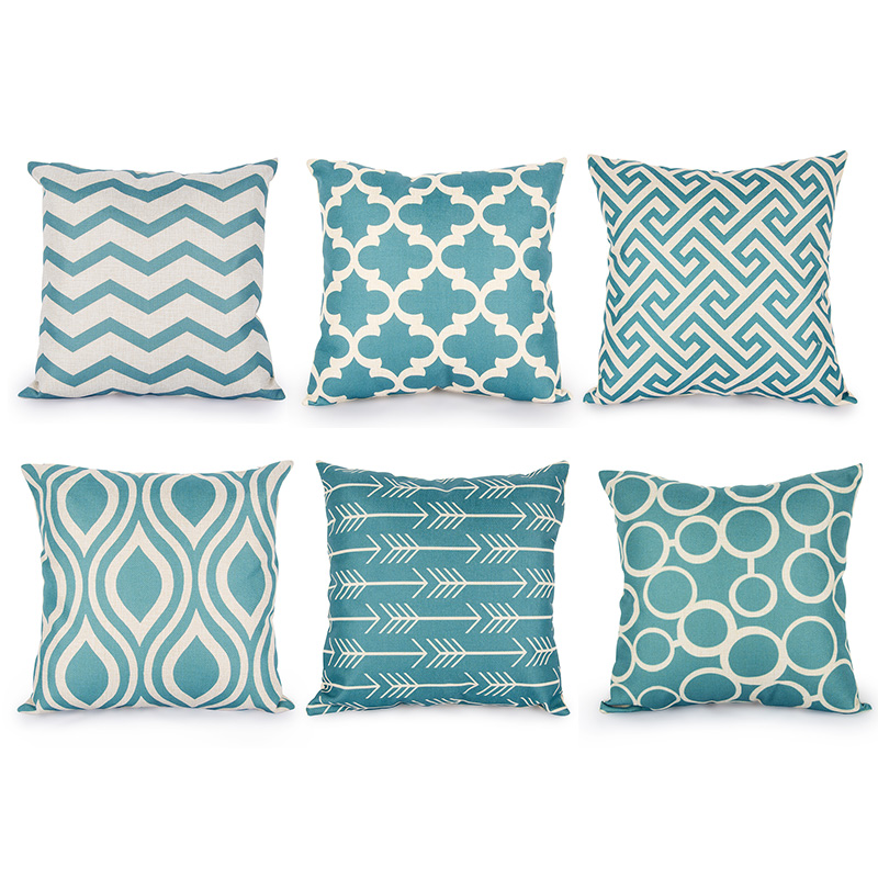 Turquoise Throw Pillows Covers : cushion cover Picture - More Detailed Picture about Quatrefoil Teal Turquoise Throw Pillow Case ...