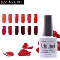 10 ml Arte Clavo offre spéciale couleur rouge série UV Gel vernis à ongles tremper UV lampe à LED Gel vernis à ongles ensemble de vernis à ongles