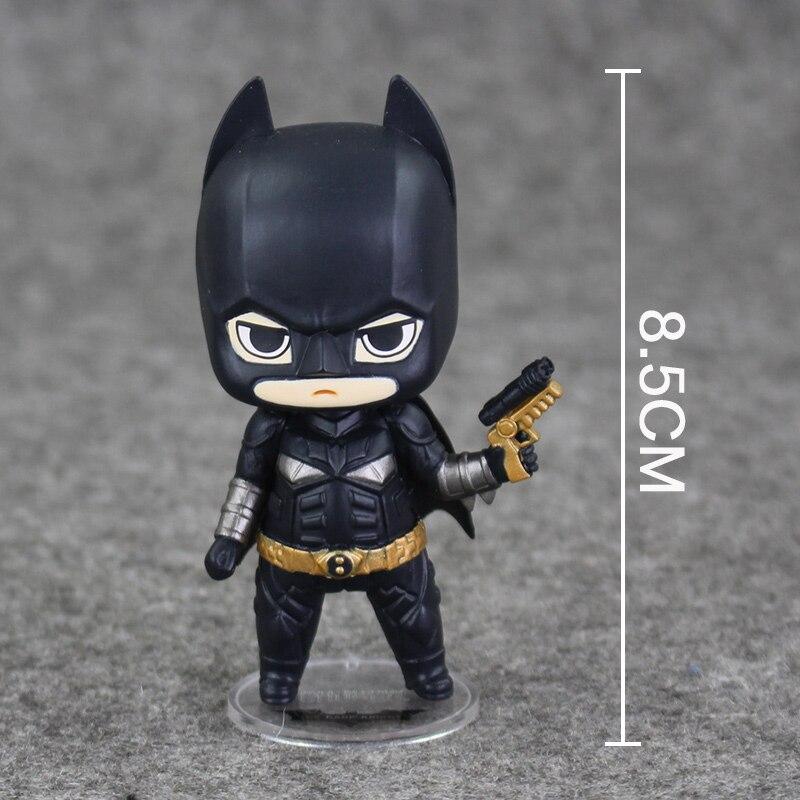 1 pc/set Super Heroes <font><b>Action</b></font> Figure <font><b>The</b></font> <font><b>Dark</b></font> <font><b>Knight</b></font> <font><b>Batman</b></font> Q Version PVC <font><b>Action</b></font> Figure <font><b>Collection</b></font> Model Or ChlidrenToys Gift